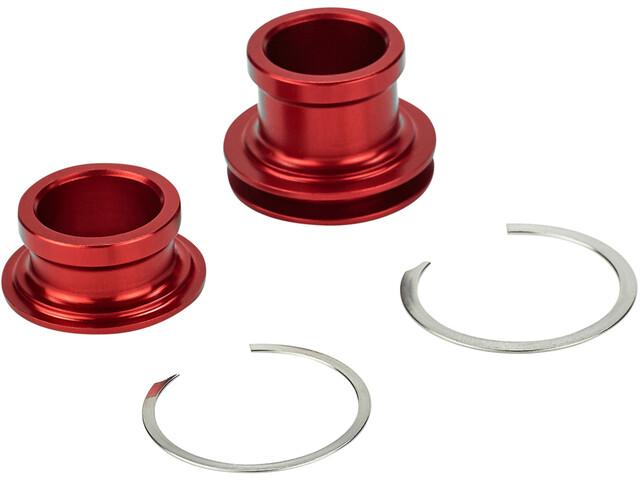 Rotor Kit Embouts 15x100 mm pour moyeu de roue avant, red